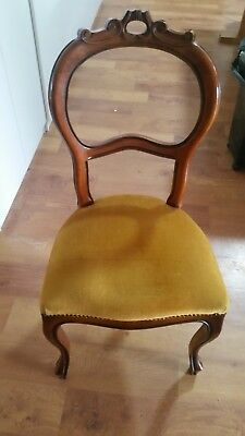 Antique Victorian Dining Chairs x 6