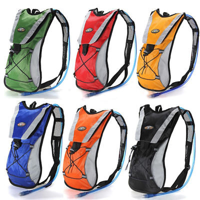 Sporting Backpack 2L Water Bladder Bag Hydration Pack Camelbak Hiking Campin LOT