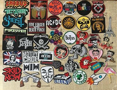 Rock Band Indy Retro Hipster Cute Cartoon DIY Iron On Embroidered Patch Applique
