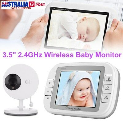 3.5'' Remote Wireless Video Baby Monitor Digital Camera Vision Safety Viewer