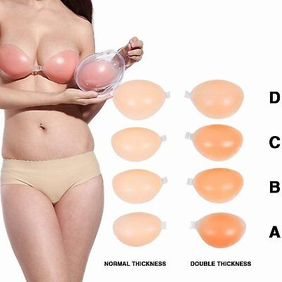 Self Adhesive Silicone Strapless Bra Reusable Invisible Push-up Stick On Bra
