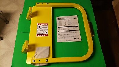 PS Doors LSG-21 Ladder Safety Gate Steel Powder Coated Yellow Fits 19-3/4-23-1/2