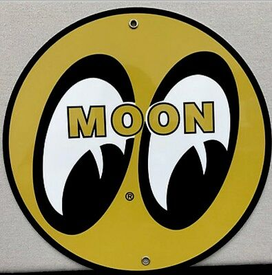 MOON EYES Gasoline Oil Gas VINTAGE REPRODUCTION GARAGE ART SIGN