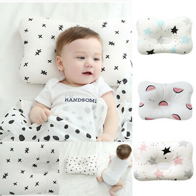 Soft Newborn Baby Pillow Prevent Flat Head Anti Roll Neck Support Sleep Cushion