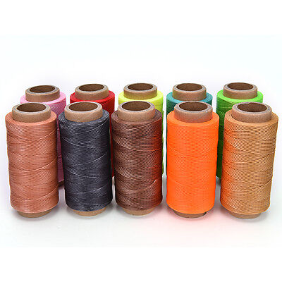 260M x1mm Leather Sewing Waxed Thread For Chisel AWL Upholstery Shoes Luggage、UK