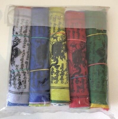 Nepalese Prayer Flags Size Small Hand Made In Nepal 5 Colours Tibetan Buddhist