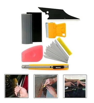 5 in 1 Car Window Tint Tools Set Fit for Auto Film Tinting Squeegee Scraper Set