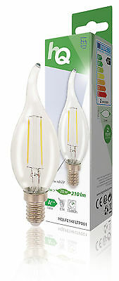 LED Retro Filament Lampe E14 Candle Bent Tip 2 W 210 lm 2700 K
