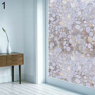 FX- New PVC Privacy Frosted Home Bedroom Bathroom Window Sticker Glass Film Adro