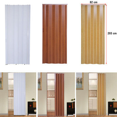 Pvc Concertina Accordion Folding Door Magnetic Catch Brown White
