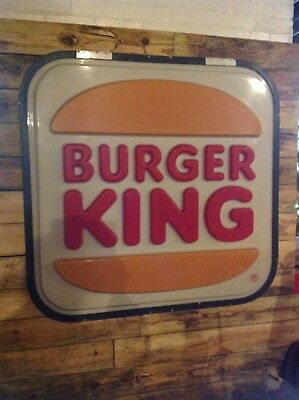 LARGE AUTHENTIC 4' x 4' BURGER KING SIGN
