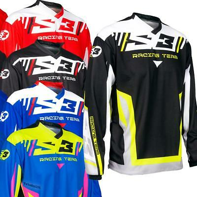 NEW S3 Racing Team Trials Riding Shirt in 5 Colour ways