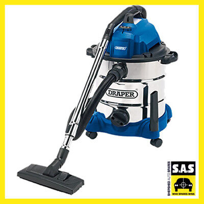 Draper 54257 30L 1400W Wet & Dry Vacuum Cleaner Integrated 230V Power Socket