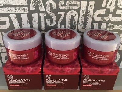 The Body Shop POMEGRANATE Firming Day Cream 50ml x 3 BRAND NEW STOCK RRP £58.50