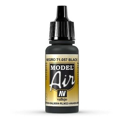Model Air 71.057 Black - RAL9004 - RLM22 Vallejo 17ml Airbrushfarbe