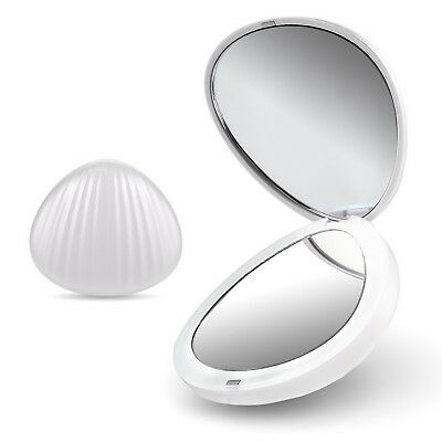 LED Portable Mini Makeup Travel Compact Pocket Folding Mirror Cosmetic Beauty