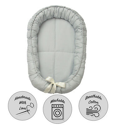 Reversable Baby Sleep Pod Nest Bed Portable Travel Cot Pillow Snuggle 0-8 Month