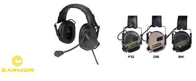 Earmor OPSMEN cuffie M32 Tactical Communication Hearing Protector BLACK NERE 9d1fabf62a16