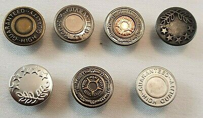 10 X 17mm Hammer On Denim Replacement Jeans Buttons Gunmetal Tack Alloy Studs