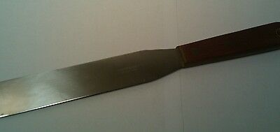 Vintage Robinson Knife Co. Icing Spatula Stainless Steel USA Wood Handle