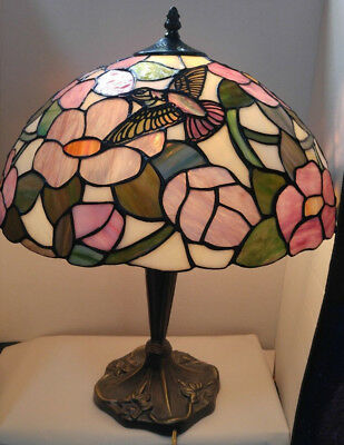 Tiffany Style Hummingbird Design Lamp Shade 16 Diameter