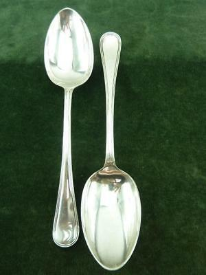 2 Vintage A.T.C Serving Table Spoons thread pattern silver plated EPNS