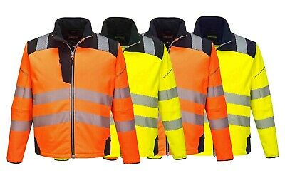 Portwest Vision Hi Vis Softshell Jacket Windproof Water Resistant Work Wear T402