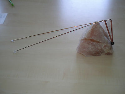 Dowsing Rods 12X36cm with crystal (2 piece), Water Witching, Lost Objects