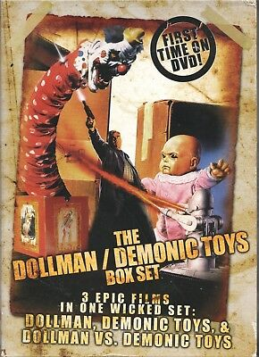 Movie DVD - THE DOLLMAN / DEMONIC TOYS BOX SET - Pre-Owned - Full Moon Features
