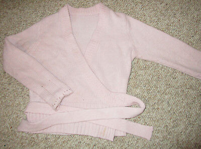 Capezio Pink Classic Dance Wrap Warm Up Sweater Top Ballet Dance Girls XS 3 4 5
