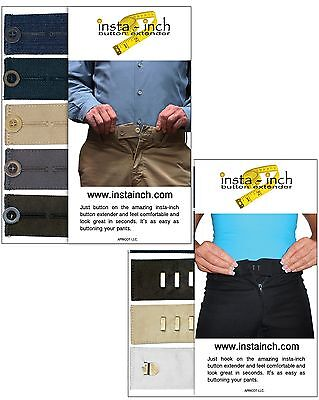 MATERNITY WAISTBAND EXTENDERS 5 button and 5 hook