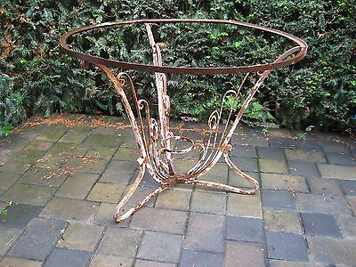Vintage Antique Patio Table Garden Furniture Wrought Iron 1930's