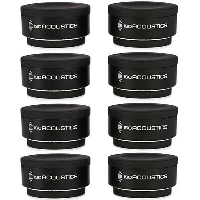 (8-Pack) IsoAcoustics Iso-Puck Isolation Puck for Studio Monitors and Amps