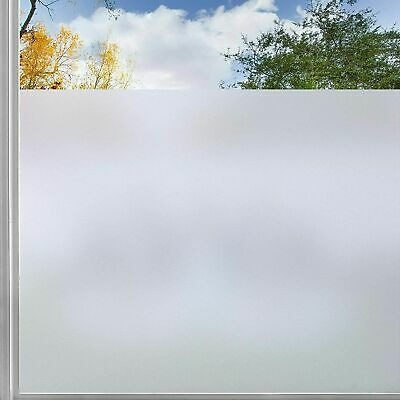 Rabbitgoo Privacy Window Film clings stickers no-glue Anti-UV frosted white D