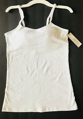NWT Gilligan & O'Malley woman's size M white tank cami with built in support