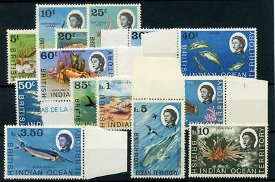 British Indian Ocean Territory 1968-70 14 values to 10r MNH cat £50