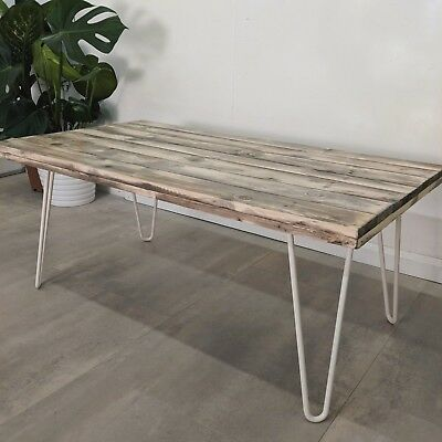 Reclaimed Timber Coffee Table Pohi Vintage Hairpins Pallet Wood