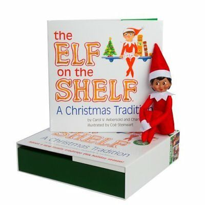 The Elf on the Shelf A Christmas Tradition Dark Skin Girl Doll and Book Set NEW