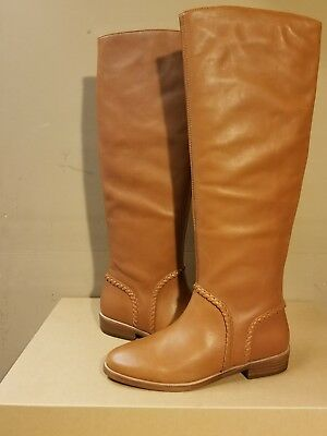 5ffee2c6c32 UGG AUSTRALIA Gracen Whipstitch leather chestnut women s tall boots size 9US