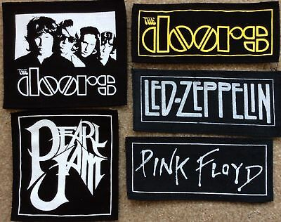 THE DOORS PINK FLOYD LED ZEPPELIN PEARL JAM patches