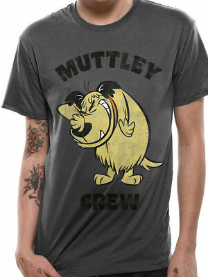 Wacky Races Muttley Crew Dastardly Hanna Barbera Cartoon Grey Mens T-shirt