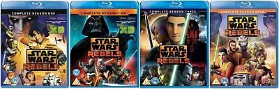 STAR WARS REBELS Seasons 1-4 [Blu-ray Set] Complete Series Disney XD 1 2 3 4