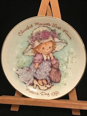 1981 Avon Mothers Day Plate Cherished Moments Last Forever Made in Japan