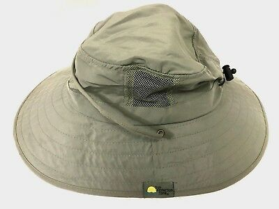 NEW SUN PROTECTION Zone 50+ UPF Adult Olive Green Sun Booney Boonie ... d197026865ea