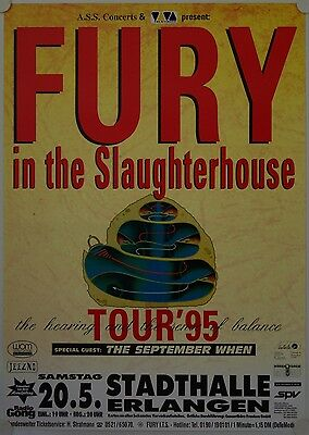 Affiche Concert FURY IN THE SLAUGHTERHOUSE 1995
