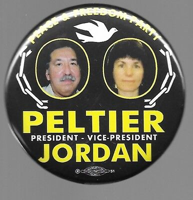 Peltier And Jordan Peace And Freedom Party 2004 Jugate Political Pin