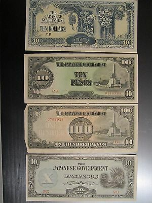 Japanese WWII Invasion Bank Notes - rare - over 70 years old