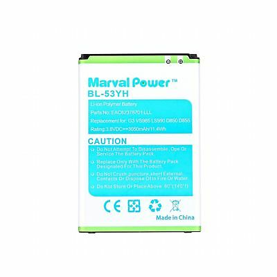 Marval Power Li-ion Battery Replacement For LG G3 VS985 F400 D850 D855 BL-53YH