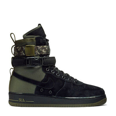 Nike SF Air Force 1 One High Black Medium Olive Special Forces 864024-004