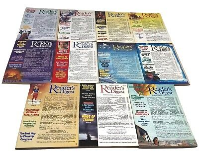 Lot of 11 Vintage READERS DIGEST Magazines from 1991